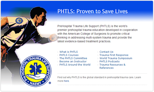 PHTLS, Prehospital Trauma Life Support - Orange County, Southern